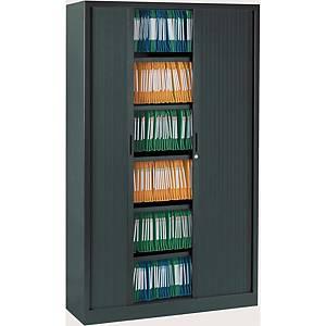 Armoire à rideaux Eol ARIV, 4 étagères, l 120 x H 198 x P 43 cm, anthracite