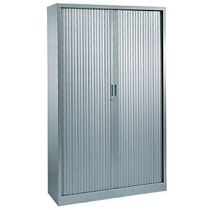 Armoire à rideaux Eol ARIV, 4 étagères, l 120 x H 198 x P 43 cm, gris aluminium