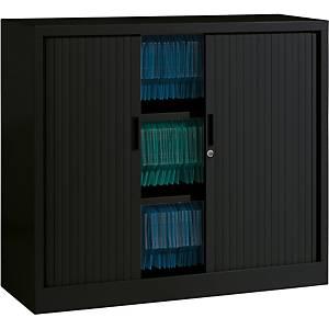 Armoire à rideaux Eol ARIV, 2 étagères, l 120 x H 105 x P 43 cm, noire