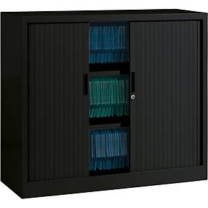 Ariv cupboard 2 shelves 120x105x43 cm black