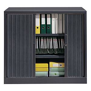 Ariv cupboard 2 shelves 120x105x43 cm anthracite