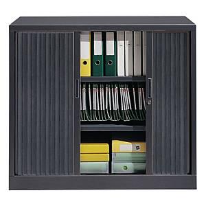 Armoire à rideaux Eol ARIV, 2 étagères, l 120 x H 105 x P 43 cm, anthracite