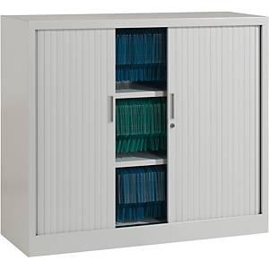 Armoire à rideaux Eol ARIV, 2 étagères, l 120 x H 105 x P 43 cm, gris aluminium