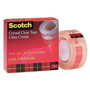 Scotch Crystal Clear Tape 19mm X 20m
