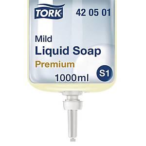 Sæbe Tork S1 Premium mild, karton, 1 L, karton a 6 stk.