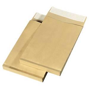 Pochette kraft 275 x 365 - 120 g - siliconée - soufflet 30 mm - par 50