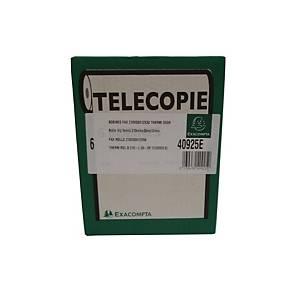 Papier thermique fax Exacompta, 55 g, 1 épaisseur, l 210 mm x L 30 m, 6 rouleaux