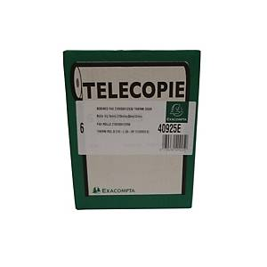 Exacompta faxrol, 1 laags thermisch papier 55 g, L 30 m x B 210 mm,  6 rollen