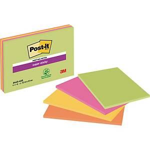 Haftnotizen Post-it Super Sticky Meeting Notes 6445-4SS, 152 x 101mm, 4 Stück