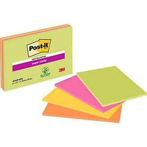 Post-It Super Sticky Meeting Notes 152x101mm - Pack Of 4