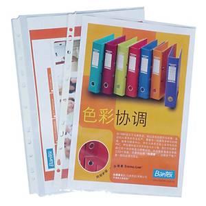 Bantex 11 Hole A4 Protector Sheet - Pack of 100