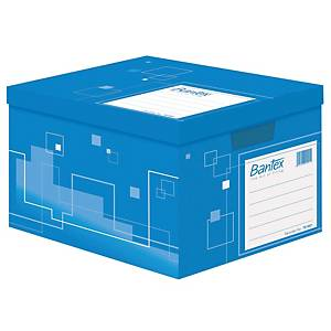 Bantex Cardboard Archive Box 401 X 328 X 292mm Blue
