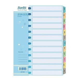 Bantex Cardboard Manila A4 Jan-Dec Index File Dividers