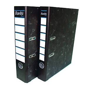 Bantex Pro Paper F4 Lever Arch File Black 70mm
