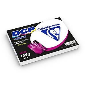 Papier A4 blanc Clairefontaine DCP Coated pour laser couleur, 135g, 250 feuilles