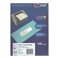 Unistat 多用途標籤 U4262 64.6 x 33.8毫米 每張24個標籤