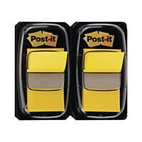Post-it Index 680, 25,4x43,2 mm, 50 feuilles, jaune, emballage de 2 pièces