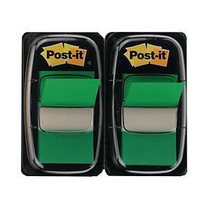 Post-it Index 680, 25,4x43,2 mm, 50 Blatt, grün, Packung à 2 Stück