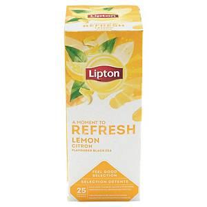 Thé noir citron Lipton Feel Good Selection - 25 sachets fraîcheur