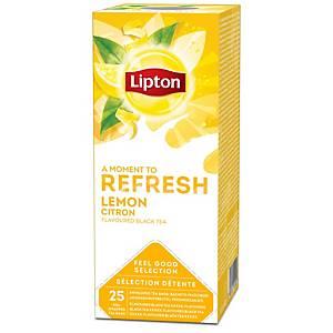 Thé au citron Lipton, la boîte de 25 sachets de thé