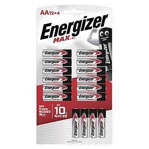 에너자이저 MAX AA 건전지 12+4개입
