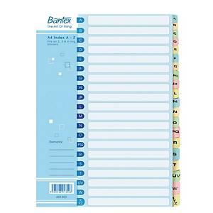Bantex Manila A4 Cardboard a-Z Index File Dividers