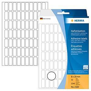 /PK2240 HERMA 2320 ETIKETTE 8X20MM WEISS