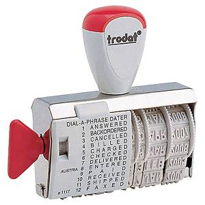 Trodat 1117 manuele stempel met woordband en datum, NL, 4 mm