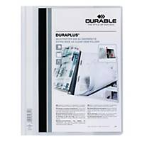 Durable Duraplus A4 Folder White - 80 Sheets Capacity
