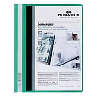 Durable Duraplus A4 Folder Green - 80 Sheets Capacity