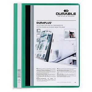 Durable Duraplus 2579 snelhechtmap, A4, PVC, personaliseerbaar, groen, per map