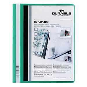 Durable Duraplus A4 Folder Green - 80 Sheets Capacity