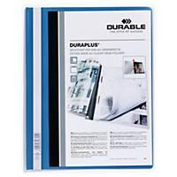 Chemise à lamelle Durable Duraplus 2579, PVC, personnalisable, bleue, la pièce