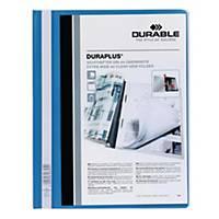 Durable Duraplus A4 Folder Blue - 80 Sheets Capacity