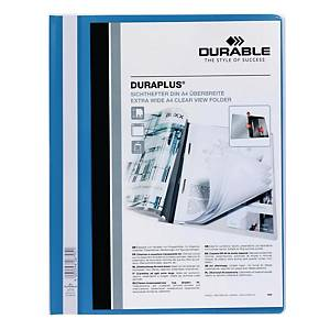 Durable Duraplus A4 Folder Blue - 80 Sheets Capacity