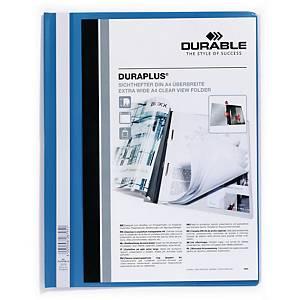 Durable Duraplus 2579 snelhechtmap, A4, PVC, personaliseerbaar, blauw, per map