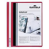 Durable Duraplus 2579 personalised project file A4 PVC red