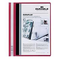 Durable Duraplus A4 Folder Red - 80 Sheets Capacity