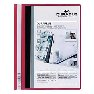 Durable Duraplus A4 Folder Red - 80 Sheets Capacity