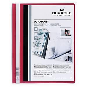 Durable Duraplus 2579 snelhechtmap, A4, PVC, personaliseerbaar, rood, per map