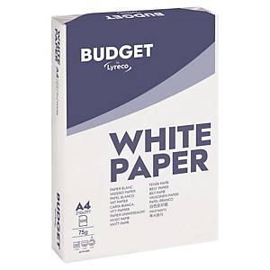 Caixa 5 resmas de 500 folhas de papel Lyreco Budget - A4 - 75 g/m²