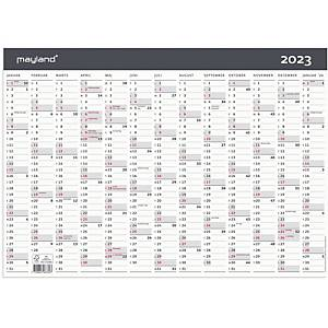 Kalender Mayland 0633 00, 1 x 13 måneder, 2020, A3, grå