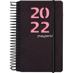 Kalender Mayland 2300 40, dag, 2020,  8 x 12,6 cm, pp, sort