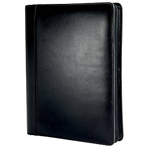 Ringbuch Chronoplan 50864 Office Compact Mobil, A4, Rindnappaleder, schwarz