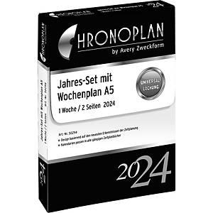 Jahresset 2021 Chronoplan 50299, 1 Woche / 2 Seiten, A5