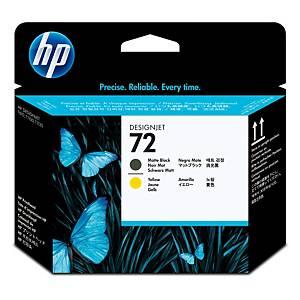 HP C9384A tête impression jet d encre nr.72 mat noire/jaune [30.000 pages]