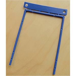Arkiveringsmekanisme D-clip, 8 cm, blå, æske a 100 stk.