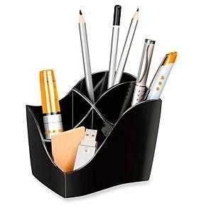 Pot à crayons Cep Ellypse OWA avec 4 compartiments, noir