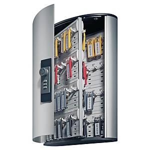 Cassetta portachiavi Durable 72 posti con combinazione in alluminio grigio