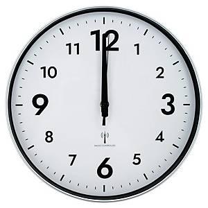 Horloge Unilux - radio pilotée - Ø 30,5 cm - argentée